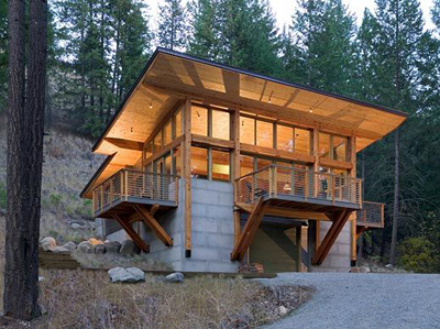 Modern nw cabins build blog Small modern mountain house plans