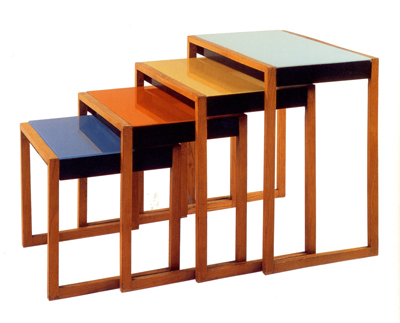 Josef Albers, Set of four stacking tables