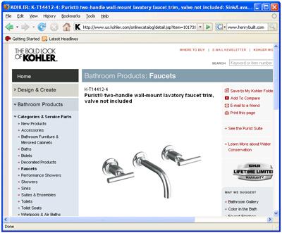 Kohler Website