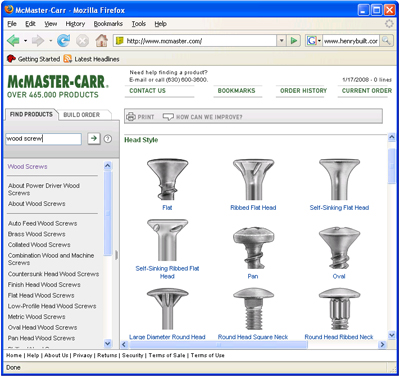 McMaster Carr Website