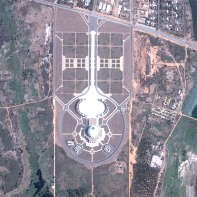 The Basilica of Our Lady of Peace in Yamoussoukro, Côte d'Ivoire