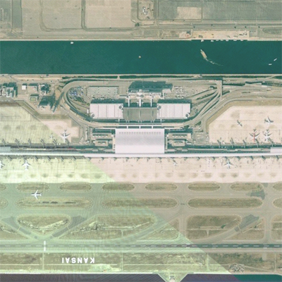 Kansai International Airport Terminal in Osaka, Japan