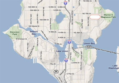 Map - Sand Point, Seattle