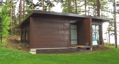local example of Cor-ten steel siding