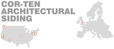 Cor-ten Architectural Siding Title & Map