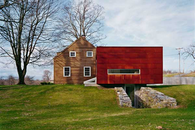 Ten Broeck Cottage in Columbia County New York by Messana O'Rorke Architects