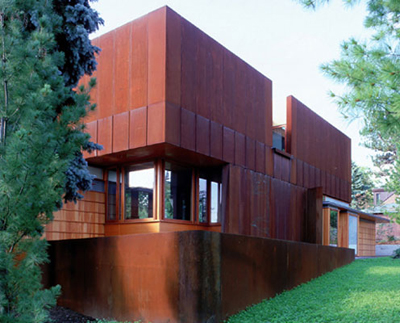 Weathering Steel House in North York, Ontario by Shim Sutcliffe