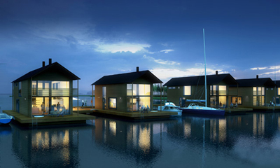 Floating houses build blog for Case stupende